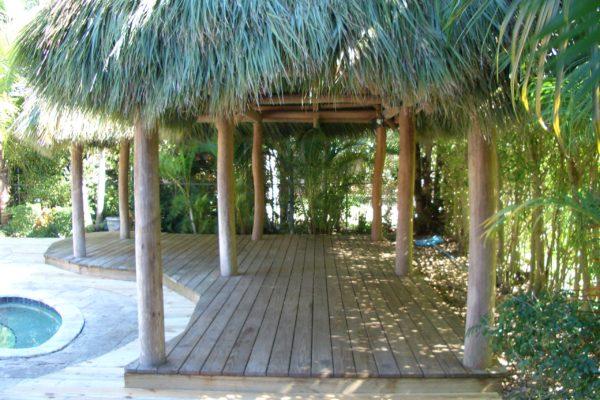 Pinecrest Tiki Hut and Deck