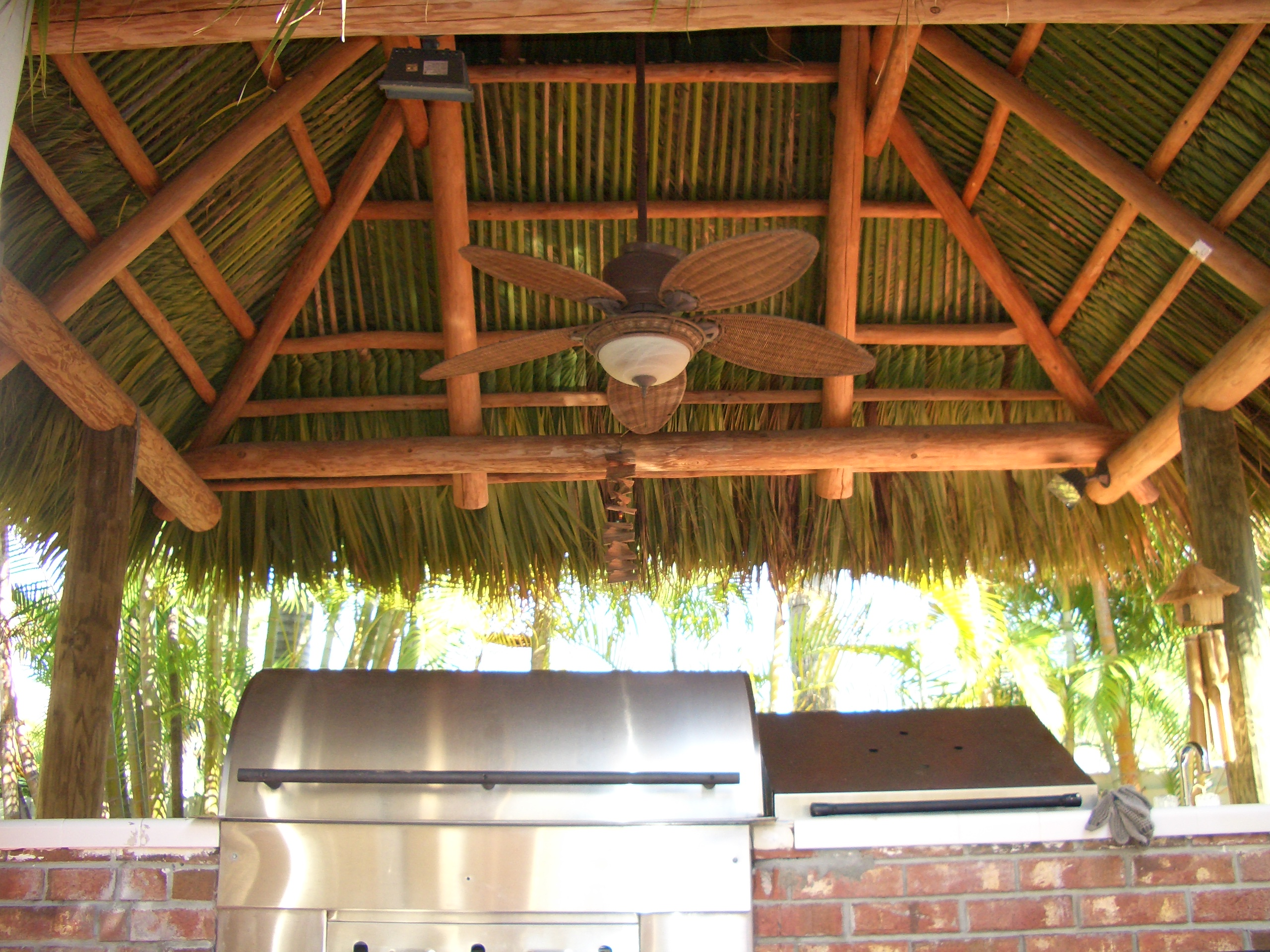 Bring indoor tiki huts comfort and safety